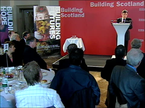 Gordon Brown addresses business leaders in Scotland Brown meeting guests / speech Scotland not only has the highest share of working age people in...
