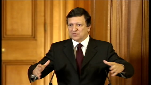 gordon brown and president of the european commission jose manuel barroso press conference jose barroso press conference sot if we are able to... - newly industrialized country stock videos & royalty-free footage