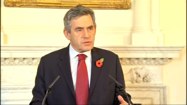 Gordon Brown calls for other nations to help International Monetary Fund press conference Brown press conference SOT If we stopped investing in...