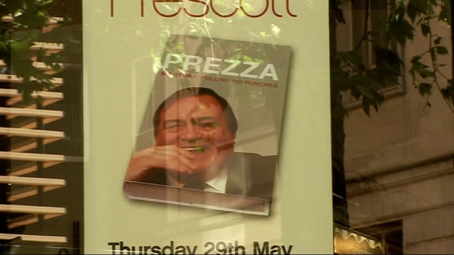 gordon brown criticised by john prescott and lord levy england london bloomsbury ext branch of waterstone's bookseller including display advertising... - bookseller stock videos and b-roll footage