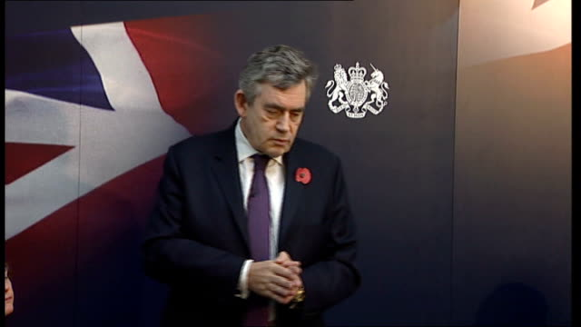 gordon brown discussion panel at imperial college; brown speech sot - so we will continue to make these changes to restructure the economy so that... - panel discussion stock videos & royalty-free footage