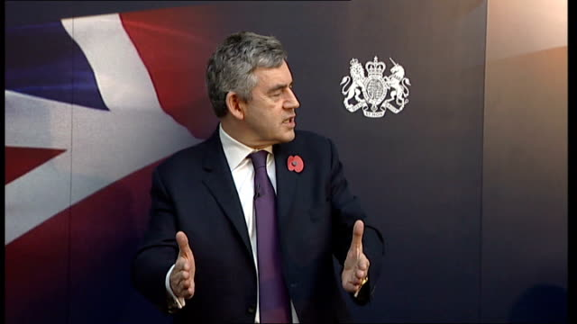 gordon brown discussion panel at imperial college; brown speech sot - i recall that in the 1920s - and i was a treasury minister for 10 years and... - new age stock videos & royalty-free footage