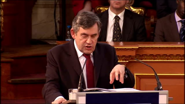 gordon brown gives romanes lecture at oxford university gordon brown speech sot the experts tell us that whatever happens in the next two years over... - addition key stock videos & royalty-free footage