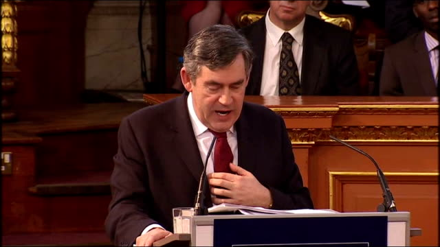 Gordon Brown gives Romanes Lecture at Oxford University Gordon Brown speech SOT It has always been that scientists are seeing possibilities others...