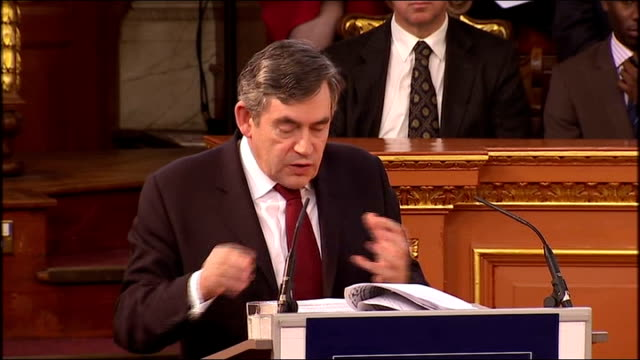gordon brown gives romanes lecture at oxford university gordon brown speech sot these are the challenges that only science can answer / isidor isaac... - social history stock videos & royalty-free footage