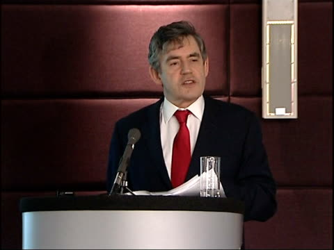 gordon brown giving speech at 'britishness' seminar; - now it's probably true that for years we didn't think we needed to debate the issue of what it... - citizenship stock videos & royalty-free footage