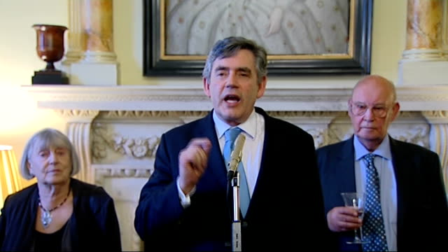 gordon brown hosts antiapartheid reception brown speech sot welcomes guests to reception / celebrates antiapartheid movement / now have a south... - social history stock videos & royalty-free footage