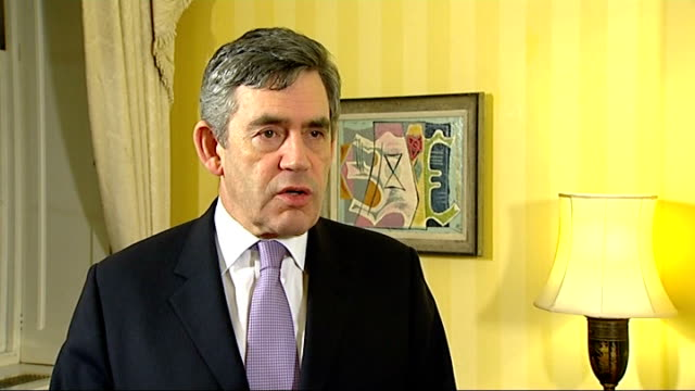 gordon brown interview about commissioning new nuclear power stations england london int gordon brown mp on government's commitment to nuclear as a... - government minister stock videos & royalty-free footage