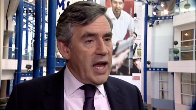 Gordon Brown interview in Birmingham ENGLAND Birmingham INT Gordon Brown interview SOT The West Midlands is the heart of the country It's the centre...