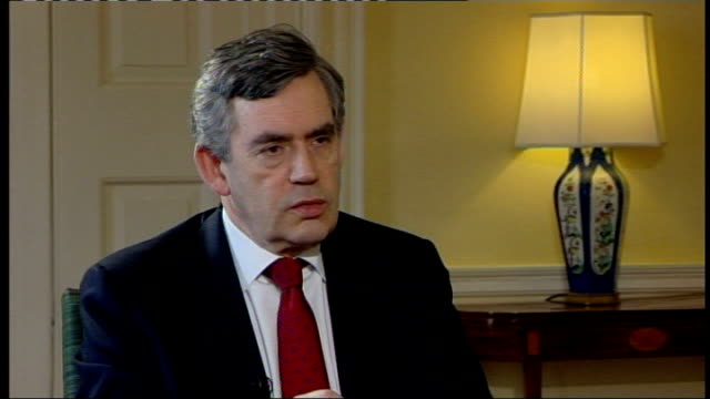 gordon brown interview on economy brown interview sot i come from an ordinary background i know what it is for people to be worried about price rises... - climate finance stock videos & royalty-free footage