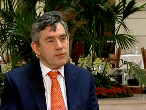 gordon brown interview on his eleventh budget [asked if the budget was really about him moving from number 11 to number 10] it's actually about doing... - 10 11 years stock videos & royalty-free footage