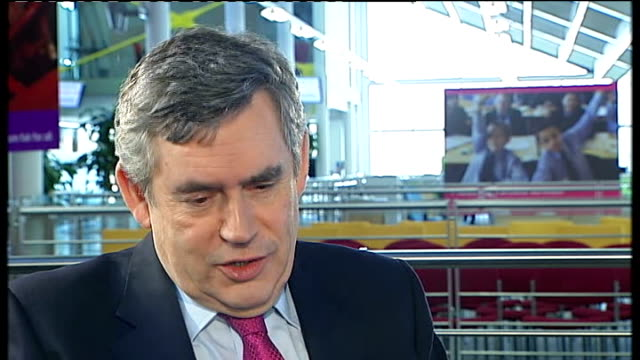 gordon brown interview sot if i get angry i get angry with myself not my staff / i throw newspapers on the floor / i have never hit anybody in my... - jack straw stock videos and b-roll footage