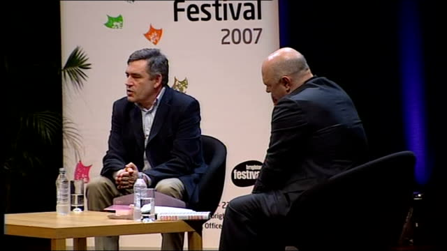 gordon brown interviewed by film director anthony minghella when i was 10 years old i had an encyclopaedia with the story of all the great events of... - prisoner icon stock videos & royalty-free footage