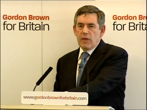 Gordon Brown Labour leadership launch speech Andy Bell asks why the people aren't entitled to a quick election to say who they really want in power...