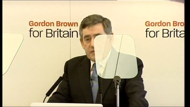 gordon brown launches labour party leadership campaign gordon brown mp speech sot announces candidacy for labour party leadership and leadership of... - politics and government stock videos & royalty-free footage
