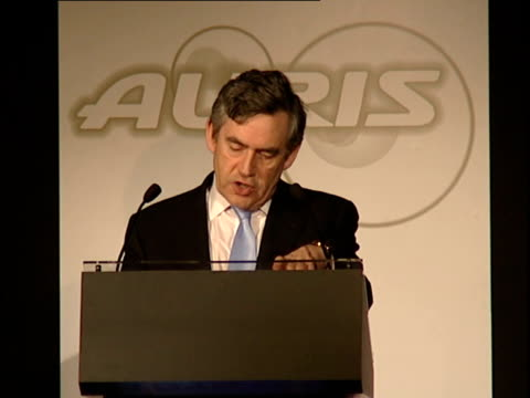 gordon brown launches uk production of toyota auris brown speech and touring factory / general views of factory production line the two keys to... - newly industrialized country stock videos & royalty-free footage