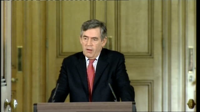 Gordon Brown May 2008 Downing Street press conference Opinion on situation in Lebanon Why the gold reserves were sold off and why it was right to do...