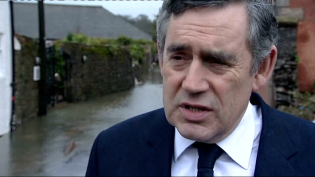 gordon brown mp interview sot whole community is devastated by loss of his life/ he will be remembered and recognised as a hero - gordon brown stock videos & royalty-free footage