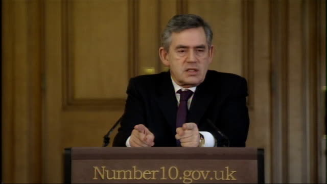 Gordon Brown optimistic about economic future Brown press conference Have to build for the upturn / first financial crisis of the global age / birth...