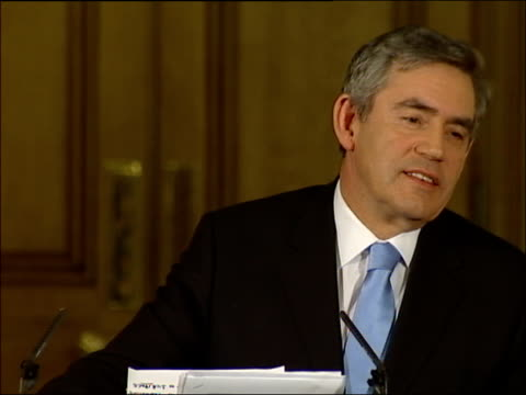 gordon brown press conference on why he ruled out a 2007 general election; prime minister you might think this is a helpful question, would you like... - hand on heart stock videos & royalty-free footage