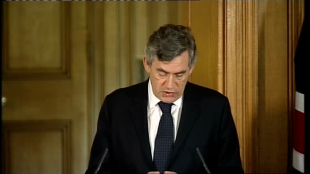 gordon brown press conference silvio berlusconi we also need to address our energy needs / nuclear power could play an important part and our two... - international match stock videos & royalty-free footage