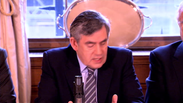 gordon brown round table breakfast meeting gordon brown speech continued sot but we remain concerned that there are still companies being unfairly... - alan sugar stock videos and b-roll footage