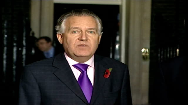 gordon brown round table meeting with northern ireland political parties peter hain mp speaking to press sot thank the chancellor for a significant... - significant stock videos & royalty-free footage