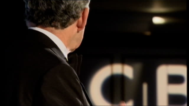 Gordon Brown rules out extra help with fuel payments London Gordon Brown MP speaking at podium and speech at CBI SOT Not short term gimmicks or...