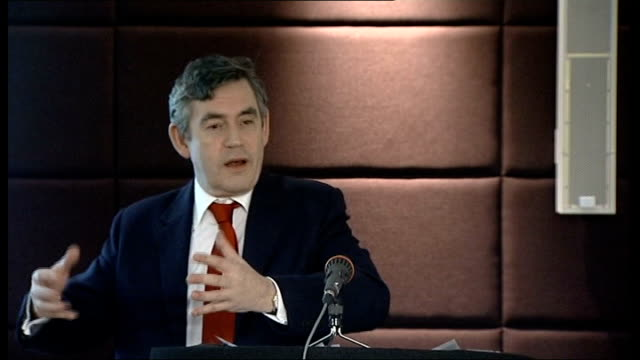 gordon brown speech at 'britishness' seminar; commonwealth club: gordon brown speech sot - let's think what might we have five or ten years from now... - youth club stock videos & royalty-free footage
