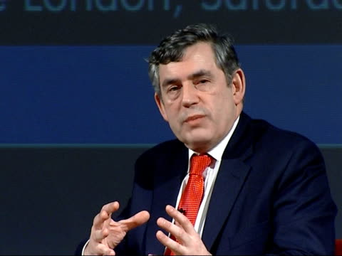 gordon brown speech at fabian society; - more on equal opportunities / education leaving age - equal opportunities stock videos & royalty-free footage