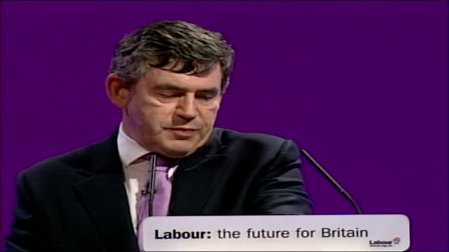 gordon brown speech at labour party conference 2006 i will also champion community ownership of local assets and so that people who want change can... - trigger stock videos & royalty-free footage