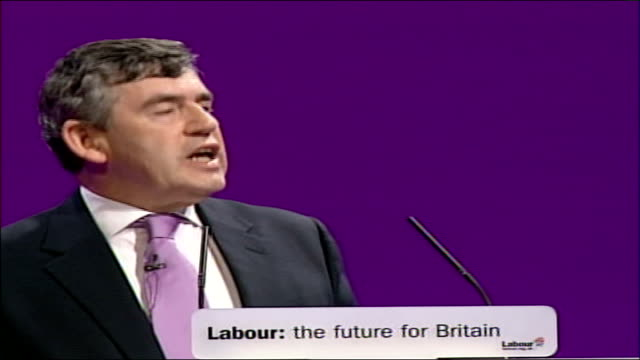 gordon brown speech at labour party conference 2006; - as i grew up surrounded by books, sports, music and encouragement, i saw at school and beyond... - all around competition stock videos & royalty-free footage