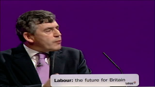 gordon brown speech at labour party conference 2006 aas a country of 60 million people competing with countries more than ten times our size we... - new age stock videos & royalty-free footage