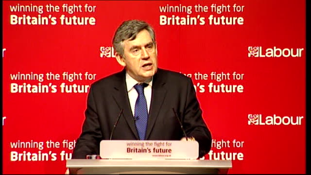 gordon brown speech at national policy forum in bristol; gordon brown speech continued sot but i do say to you that the only party that can do this... - hand on heart stock videos & royalty-free footage
