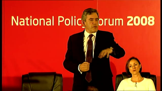gordon brown speech at national policy forum thanks margaret curran / she fought an excellent campaign/ talked to her this morning she is determined... - brown bread stock videos and b-roll footage