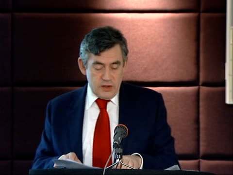 gordon brown speech at seminar on 'britishness'; gordon brown mp speech sot - on what can make for a better sense of british national purpose and... - social history stock videos & royalty-free footage