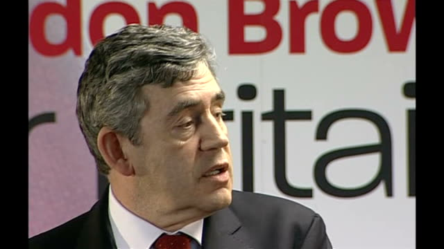 gordon brown speech followed by q&a session; - speaks about the future of israel, palestine and the middle east / on how the labour movement can work... - social justice concept 個影片檔及 b 捲影像