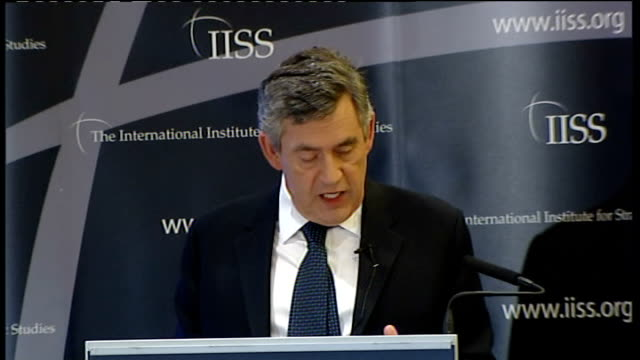 stockvideo's en b-roll-footage met gordon brown speech on afghanistan; gordon brown speech continues sot - so i want to answer those who argue that while our motive, to deprive al... - 40 seconds or greater