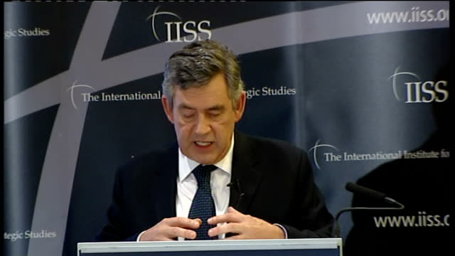 Gordon Brown speech on Afghanistan Gordon Brown speech continues SOT In the Spring NATO announced that we would support the expansion of the Afghan...