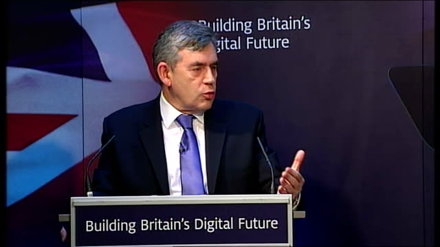 gordon brown speech on britain's digital future gordon brown speech continued sot revitalising our politics our governance and our democracy means... - politics and government stock videos & royalty-free footage