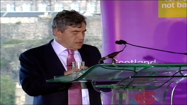 gordon brown speech on 'britishness' anyone looking at scotland in the early 1990s and scotland today would be struck by this one fact just how much... - youth unemployment stock videos & royalty-free footage