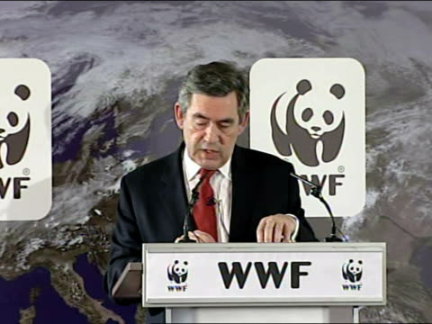 gordon brown speech on climate change; a global carbon market is at the heart of our approach - not the old way of rigid regulation but the modern... - 800 metre stock videos & royalty-free footage