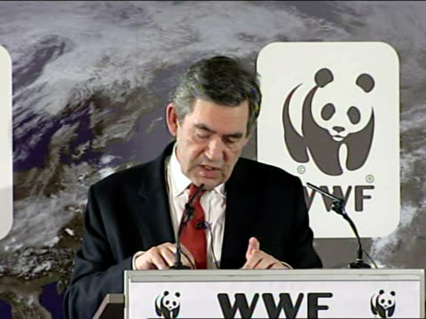 gordon brown speech on climate change businesses too must play their part in improving energy efficiency and reducing carbon emissions here the basic... - disposable stock videos and b-roll footage