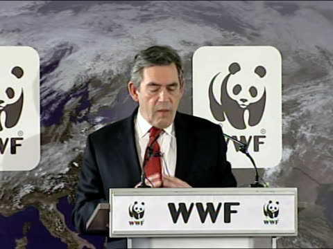 gordon brown speech on climate change today we face another fateful choice building a low carbon global economy demands a worldwide commitment on a... - komplett stock-videos und b-roll-filmmaterial