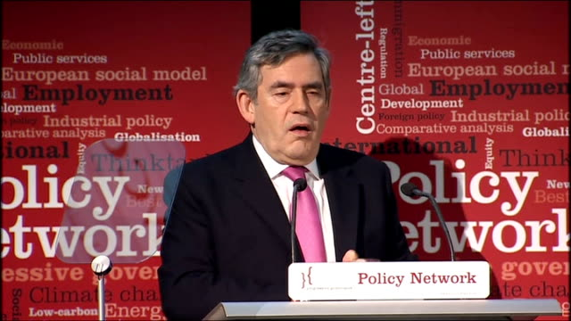 vídeos y material grabado en eventos de stock de gordon brown speech on economic recovery; gordon brown mp speech sot - by the actions they have taken, founded on the progressive beliefs they hold,... - new age