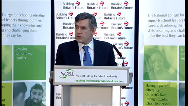gordon brown speech on education brown speech sot instead approach should be to look at great schools and great heads to lead new phase of reform /... - white paper report stock videos and b-roll footage