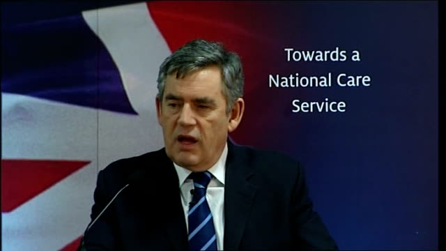 gordon brown speech on health and social care reform; brown speech sot - without reform we face as a nation rising costs from care - as individuals,... - double bed stock videos & royalty-free footage