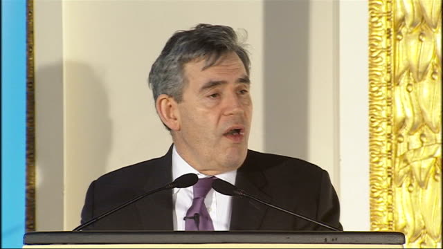 gordon brown speech on human rights gordon brown speech continued sot in burma over the last month more than 200 people have been sentenced to some... - rebellion stock videos & royalty-free footage