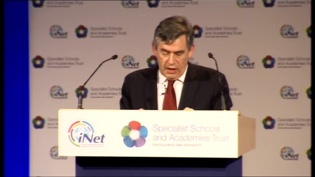 gordon brown speech on social mobility; brown speech sot - old ideas that intelligence can be reduced to a single number in an iq test, that we need... - hierarchy stock videos & royalty-free footage