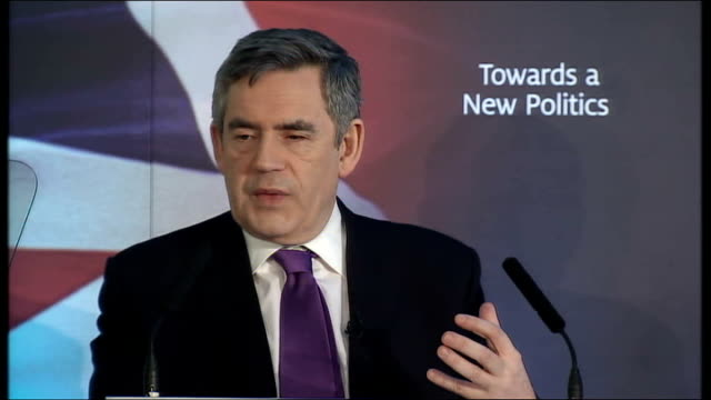Gordon Brown speech on transforming politics Gordon Brown speech continues SOT But with the Constitutional Reform Bill now going through the House of...